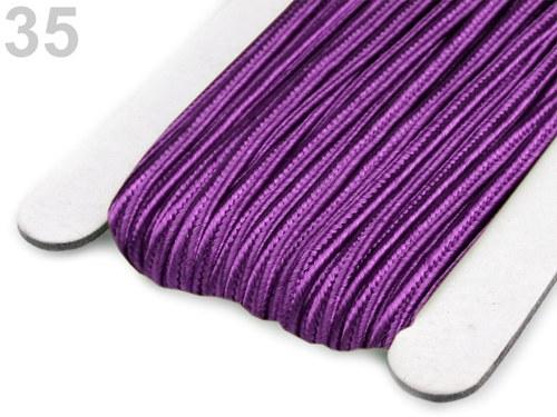 Sutaška šíře 3mm fialová-3metry