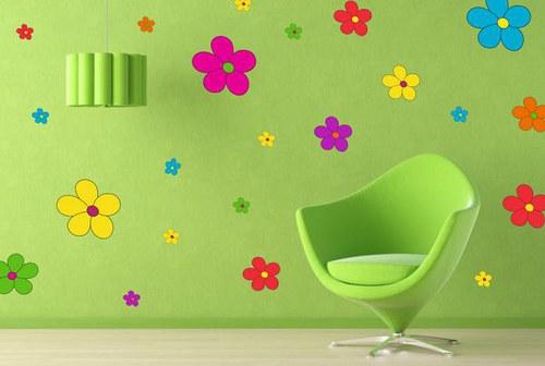 Farebná nálepka 270f Kvety
