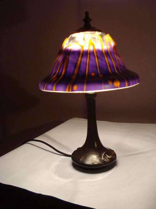 lampa Tiffany - secesná a irizovaná