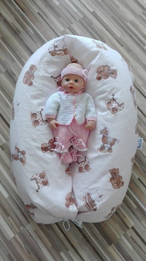 Kojící a těhotenský polštář maxík - hračky narůž.