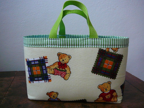 košík na hračky  -medvídkový