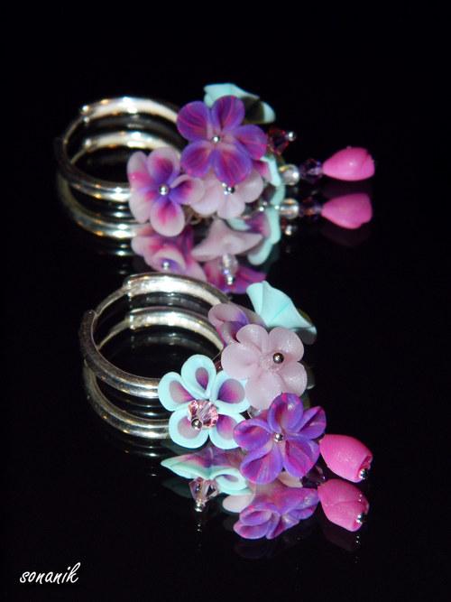 Náušnice květinkové