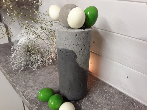 """Betonka váza  \""""Šedý+černý antracit\"""""""