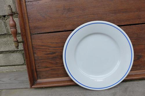 Modrá linka...porcelánový talíř