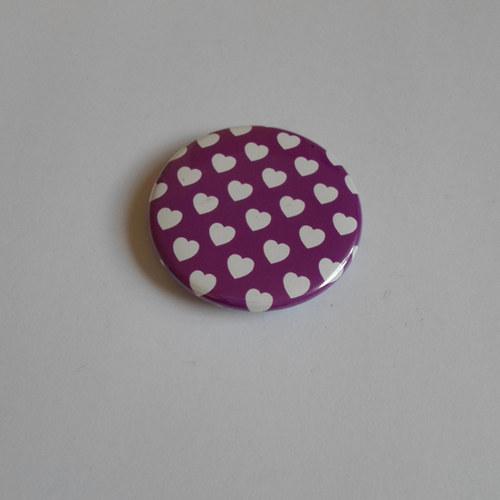 Srdíčka / fialová (magnet)