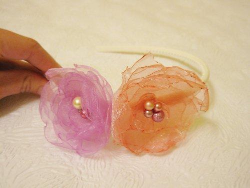 Růžovofialková čelenka