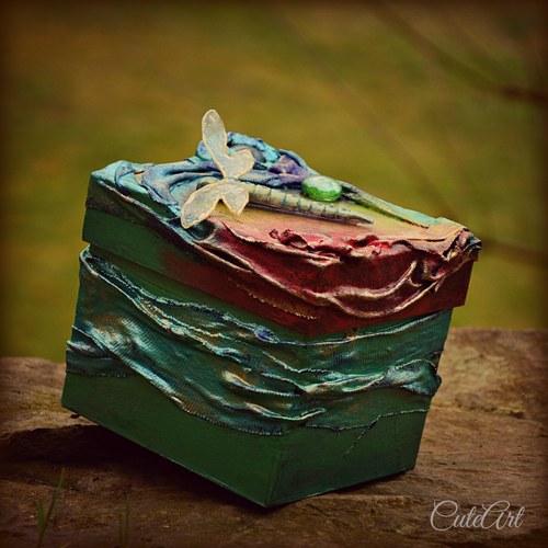 Zlatisté lúče na hladine - krabička, šperkovnica
