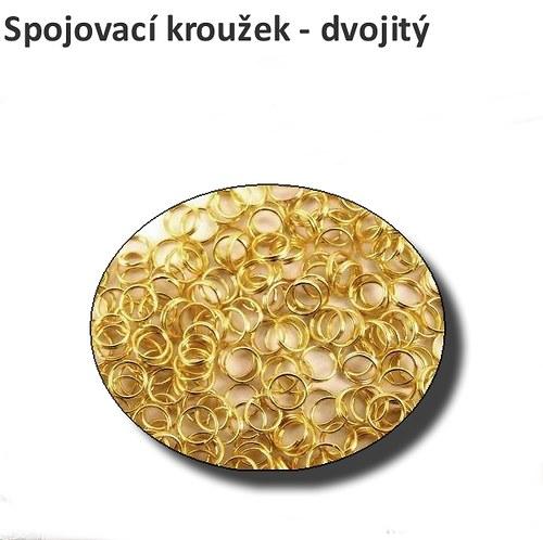 Spojovací kroužky - dvojité, 6 mm, 50 ks