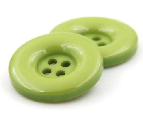 Plastový knoflík 20 mm 2 kusy zelený