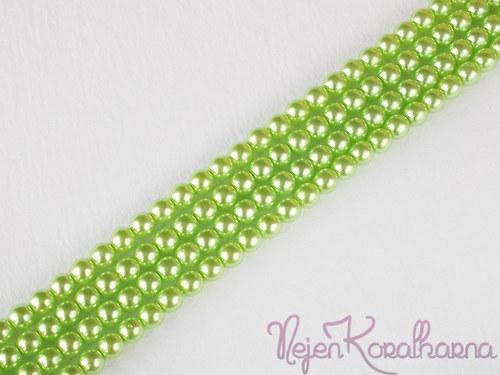 Voskové perle světle zelená 4mm