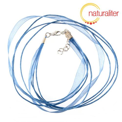 Náhrdelníková šňůrka - 48cm modrá