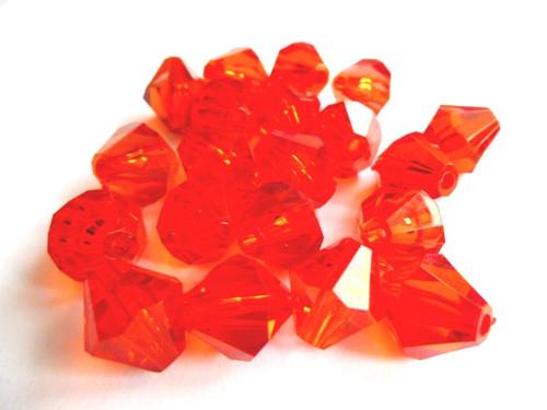 Korálky Cínovky červené 14mm 10ks