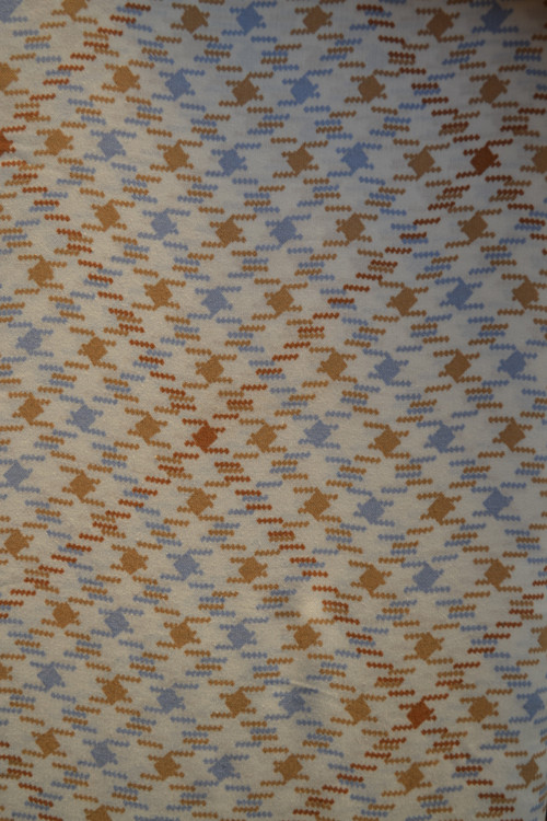 Viskoza modro-hnědé kostičky