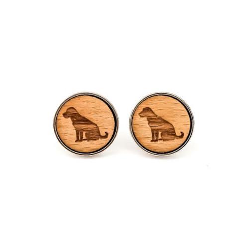 Dřevěné manžetové knoflíčky Pes - Labrador