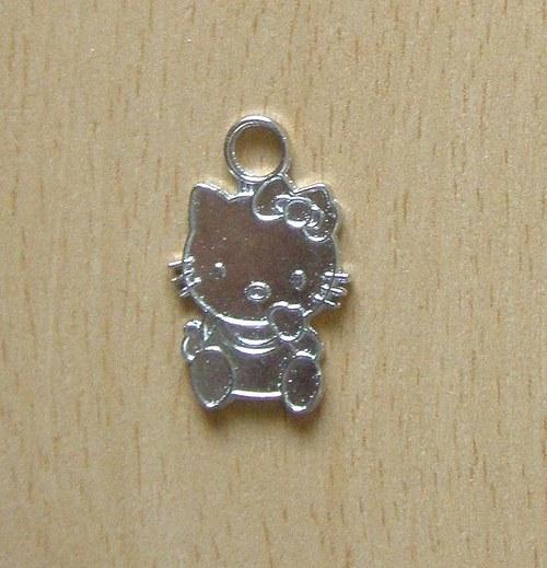 Přívěsek kočička Hello Kitty tib. stříbro P 009