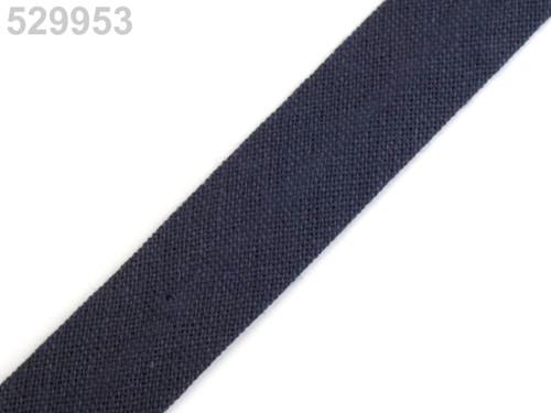 Šikmý proužek 14 mm zažehlený (5m) - Black Iris