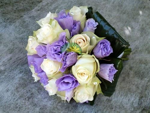 Svatební květina ***bílá & lila