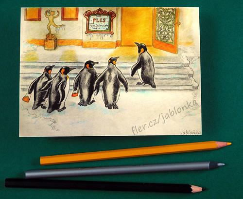 Plesová sezóna - pohlednice