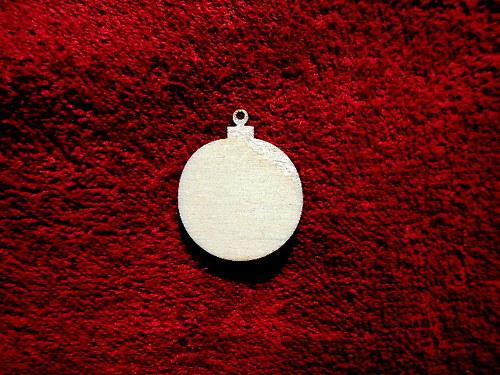 2D výřez ván.ozdoba koule-4,1x3,4cm- cena za 10ks