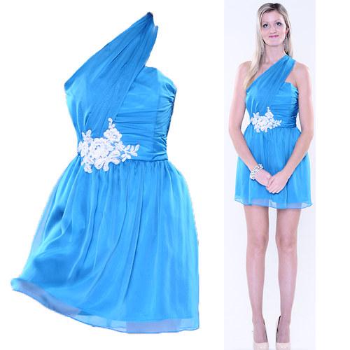 Šifónové šaty na jedno rameno různé barvy