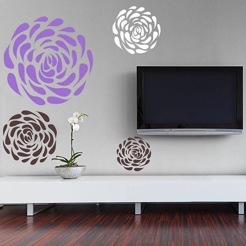 Samolepíci dekorace na zeď 3371n Lupienkové kvety