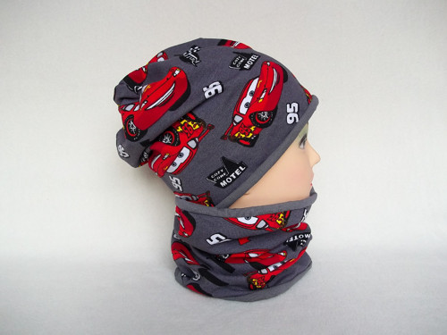 Čepice s nákrčníkem - AUTA