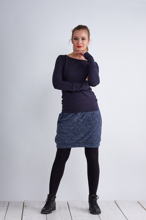 Skirt Warm Blue Melange