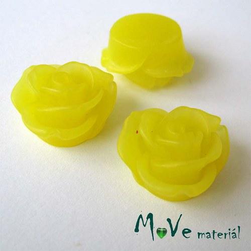 Kabošon květ průsvitný A2- resin - 2ks, žlutá