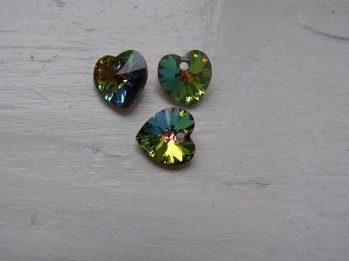 Swarovski srdce 10, 3x10 mm - Crystal Bermuda Blue