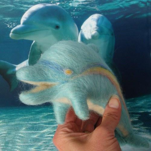 Orgonfín duhový - orgonitový delfín