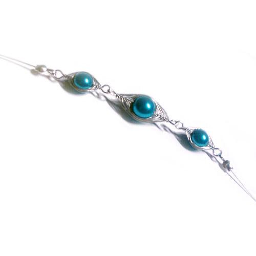Drátovaná náhrdelník