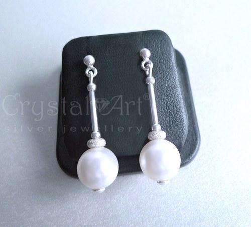 Swarovski perly v striebre