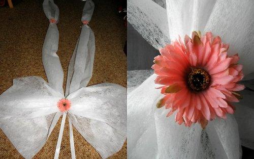 Svatební šerpa s drobnými květy