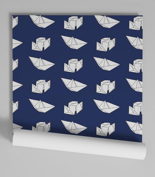 Tapeta Origami – Vyplouváme!