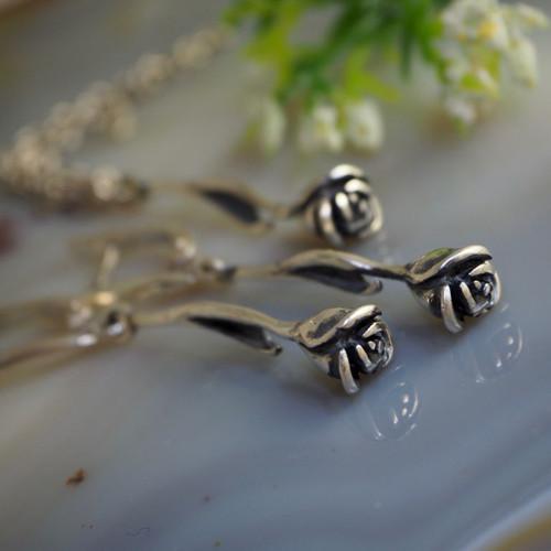 """Souprava \""""Růže\"""" -  stříbro 925/1000"""