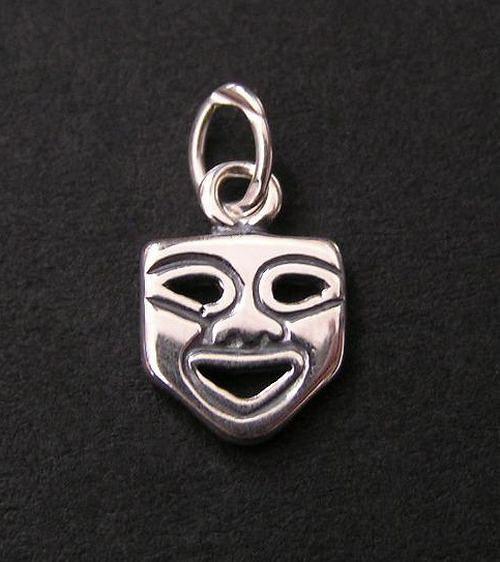 Maska - stříbrný přívěsek