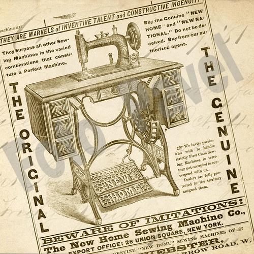 Vintage motiv - šicí stroj 1