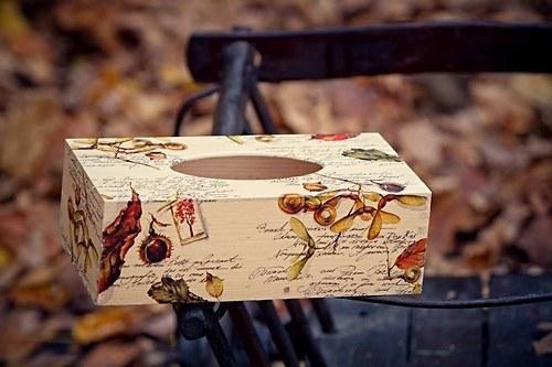 krabička na kapesníky-podzim
