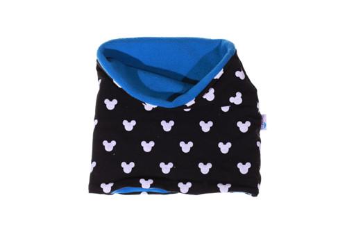Dětský nákrčník Mickey černobílý