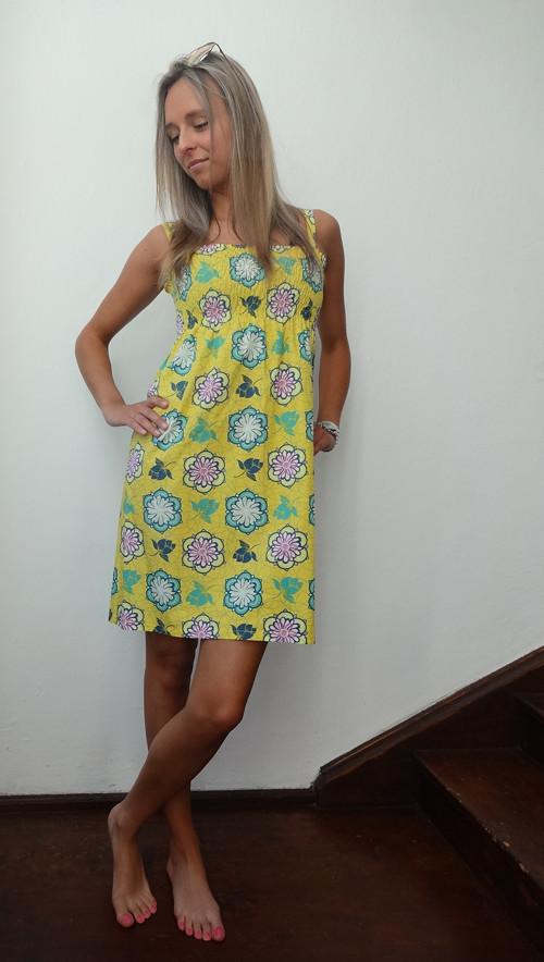 Plátěné letní šaty