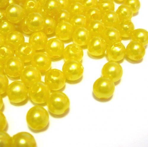 Perly - žluté - 50 ks