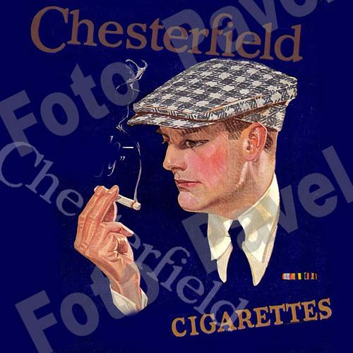 Vintage motiv - kuřák