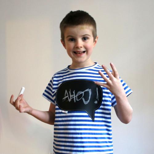 TABULKY! Dětské námořnické tričko s bublinou :)
