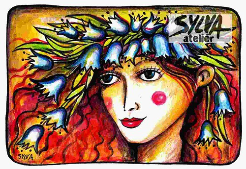 Luční víla- pohlednice