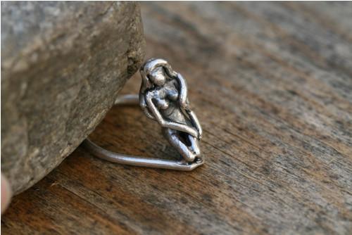 Prsten - kulatý - Malá mořská víla