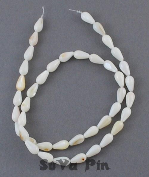 Korálky perleť 10x5mm , šňůra 36cm