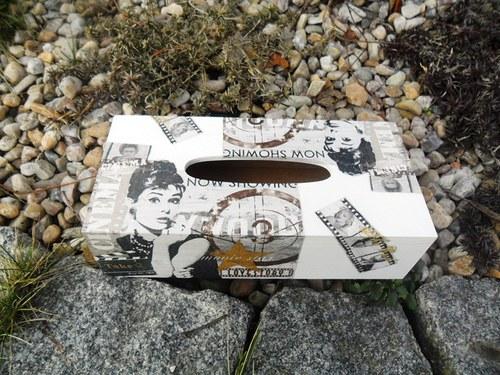 """Krabička na kapesníky \""""Audrey Hepburn\"""""""