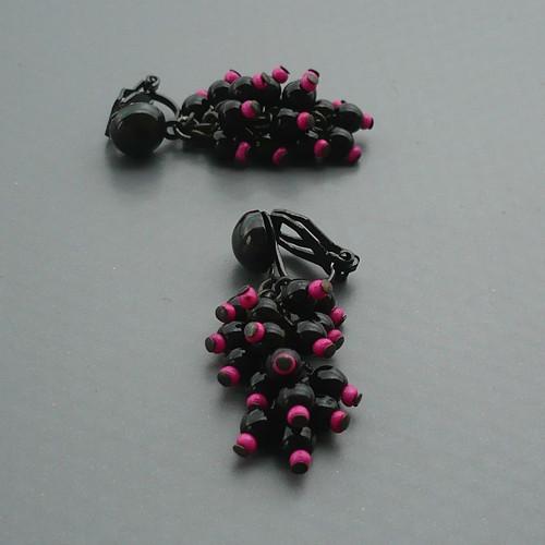 Černý hrozínek do růžova - klipsy