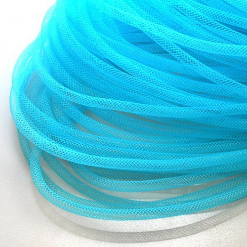 Pružná návleková síťka / 4 mm / Středně modrá