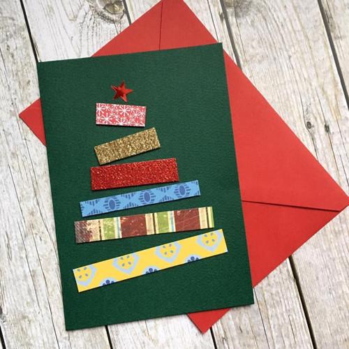 Veselé přání s vánočním stromečkem